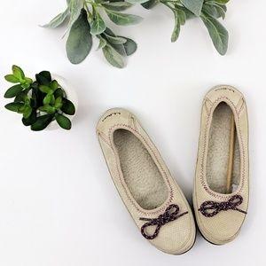NWOB *ll bean* suede fleece lined ballet slippers